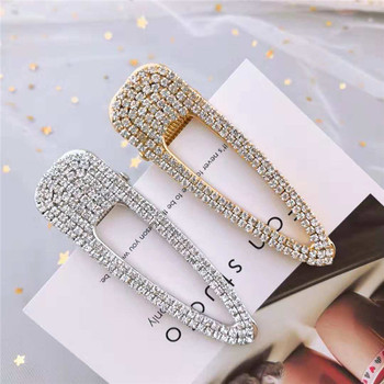 Korea Fashion Rhinestone Shiny Metal Hairpin Women Girls Elegant Hair Clips Pin Barrette Accessories For Women Hairgrip Headwear stylish rhinestone faux pearl starfish hairgrip for women