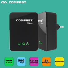 500mbps Powerline ethernet network adapter PLC Homeplug comfast CF WP500M powerline adapter match with wifi relay
