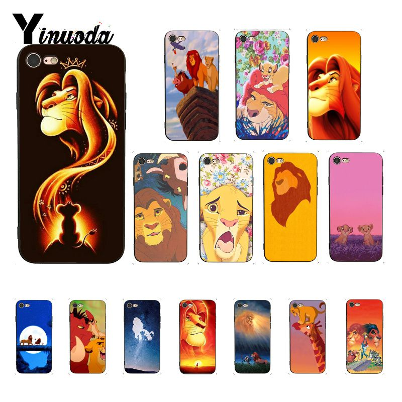Yinuoda <font><b>Lion</b></font> <font><b>king</b></font> Hakuna Matata Black Soft Shell Phone Cover for <font><b>iPhone</b></font> 8 7 <font><b>6</b></font> 6S 6Plus X XS MAX 5 5S SE XR 10 <font><b>Cases</b></font> image