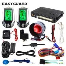 EASYGUARD 2 Way pke Автомобильная сигнализация ЖК-пейджер дисплей Автоматическая блокировка разблокировка безопасности вибрационная сигнализация датчик удара безопасность Универсальный