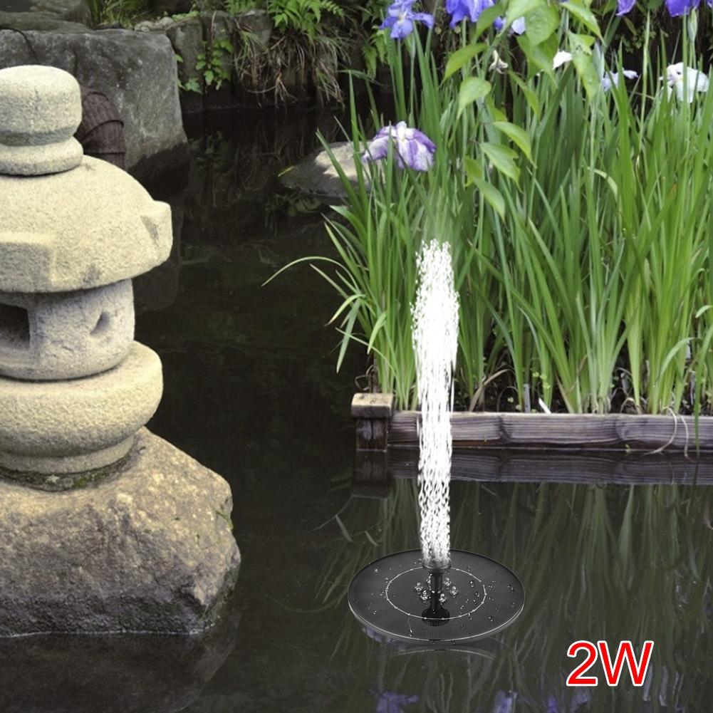 Image 3 - 2,4 Вт 17,6 см светодиодный комплект для полива фонтанов солнечной энергии насос для бассейна пруд погружной водопад плавающая солнечная панель фонтан для воды-in Фонтанчики и поилки для птиц from Дом и животные