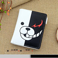 Danganronpa Monokuma Cosplay PU Leather Cartoon Wallet Moneybag Short Notecase Purse Billfold