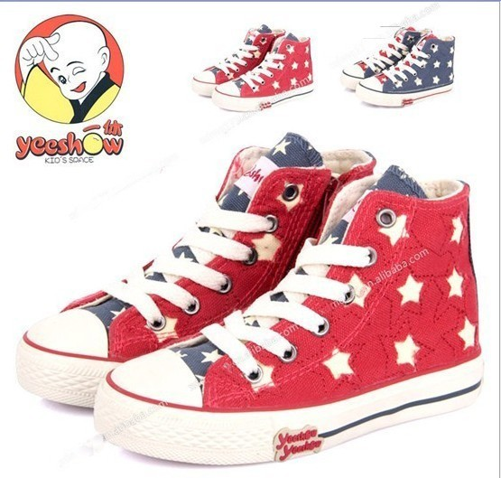 size25-37 2014 Personality,High-top soft bottom children canvas shoes Flats,children sneakers kids shoes for boys&girls Y380
