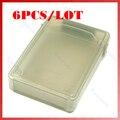 6 PÇS/LOTE Cinza Portátil HDD Loja Box Tanque De Armazenamento Caso de Proteção para 3.5 polegada Disco Rígido