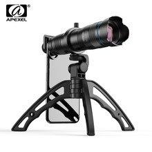 APEXEL HD 28X телеобъектив с зумом для мобильного телефона+ мини-штатив с дистанционным спуском затвора монокулярный телескоп объектив для всех смартфонов