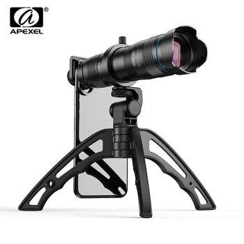 цена на APEXEL HD 28X Telephoto Zoom Mobile Phone Camera lens + Mini Tripod Remote Shutter Monocular Telescope Lens For All Smartphones