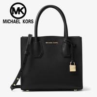 MICHAEL KORS 2018 Official MK Women Bag Fashion Mercer Pebbled Leather Accordion Crossbody 30T8TM9M2L Women Handbags