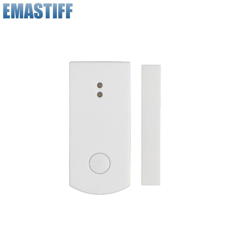 Free Shipping!Intelligent Wireless 868mhz Door Window Gap Sensor, Door Magnetic Alarm Detector For GSM PSTN X6 APP Touch Panel