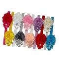 10pcs Lovely Hair Band Baby Girl Headbands Chiffon Hair Flower Headband Fabric Flowers Headwear Baby Hair Accessories A02
