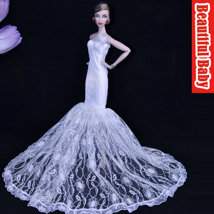 Handmade luxury princess wedding clothes limited edition fishtail.