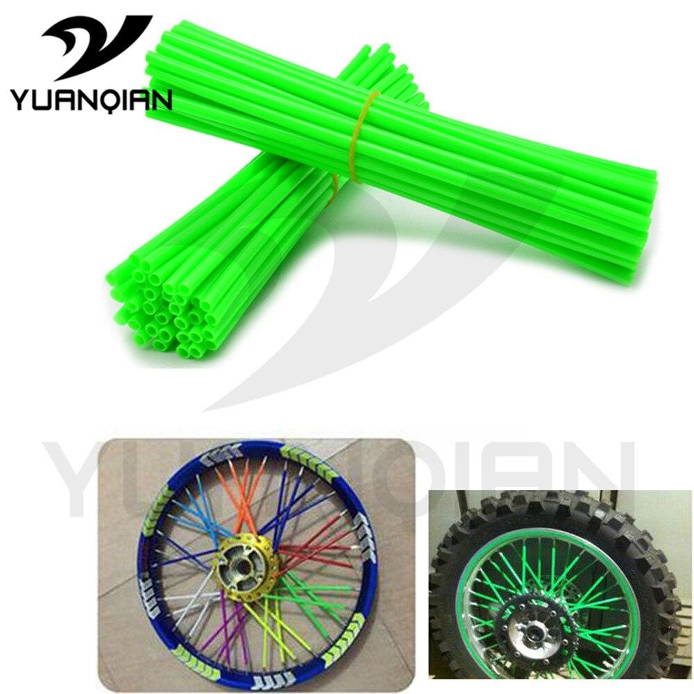 72pcs Plastic Motorcycle Motocross Dirt Bike Enduro Wheel RIM SPOKE SKINS COVERS FOR SUZUKI DR250S LTZ400/450 KTM 65SX/XC