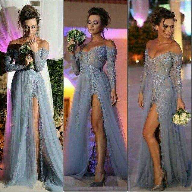 RSE742 Sexy Off The Shoulder Long Sleeve Prom Dresses Emerald Green Evening  Dresses 07a5bd6f3269