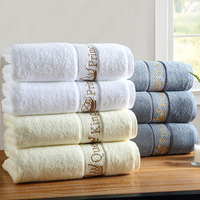 Luxury Hotel Bath Towel Home Embroidery Men Women Cotton Adult Thick Large Cotton Baby Couple Beauty Salon Hair Towel Gift B5T72