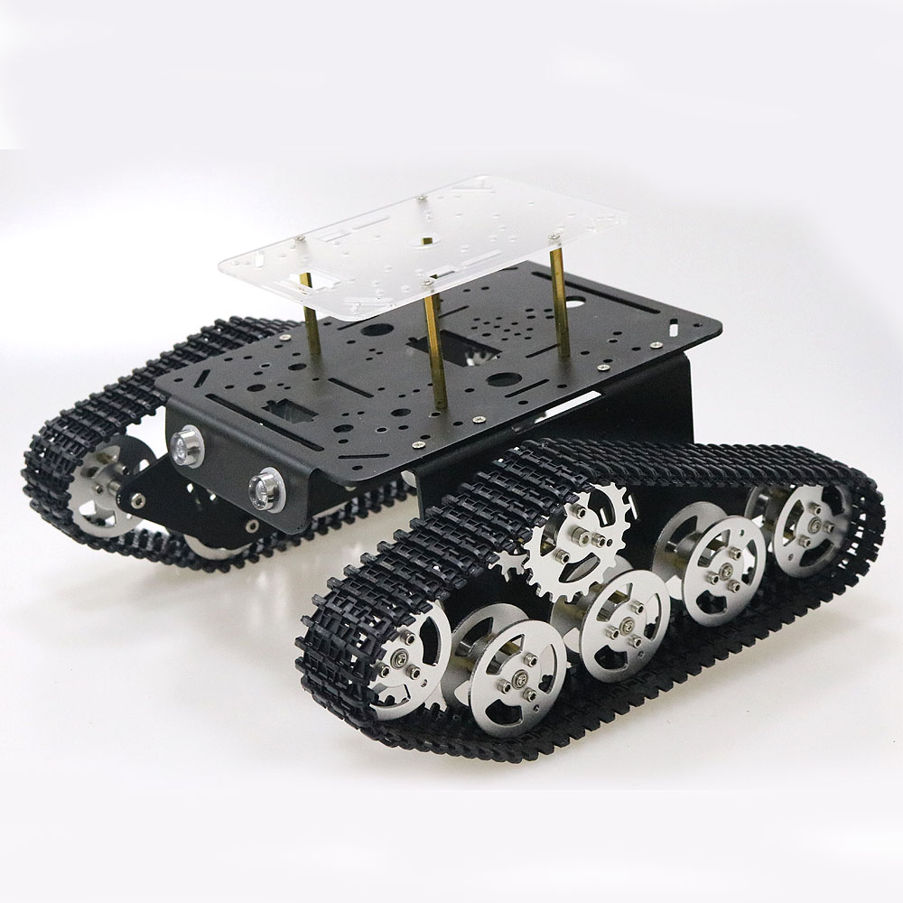 Robot Tank Car Platform Metal Stainless Steel Chassis Speed Encoder Motor 9V with Crawler for Arduino Raspberry Pi DIY