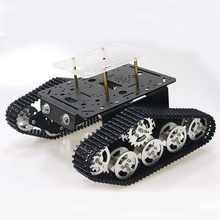 Robot Tank Car Platform Metal Stainless Steel Chassis Speed Encoder Motor 9V with Crawler for Arduino Raspberry Pi DIY(China)