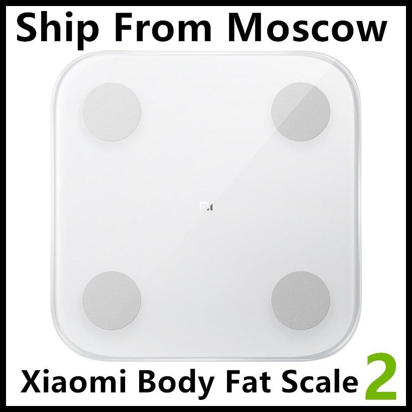 2019 Xiaomi báscula de composición corporal 2 13 macetas de análisis mi báscula de grasa corporal 2 mi fit Control de aplicación con oculto pantalla LED XMTZC05HM