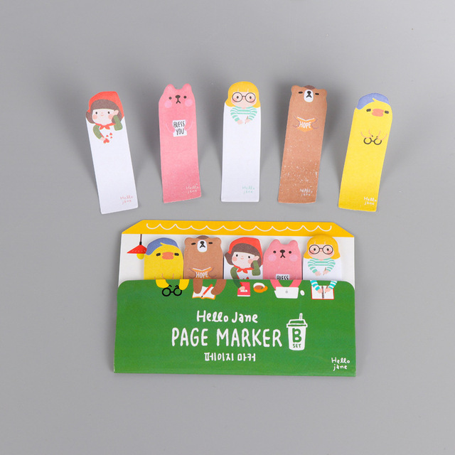 1Pcs Cartoon Kawaii Girl Bus Hello Jane Notes Sticky Notes Post It Memo Pad  Stationery School