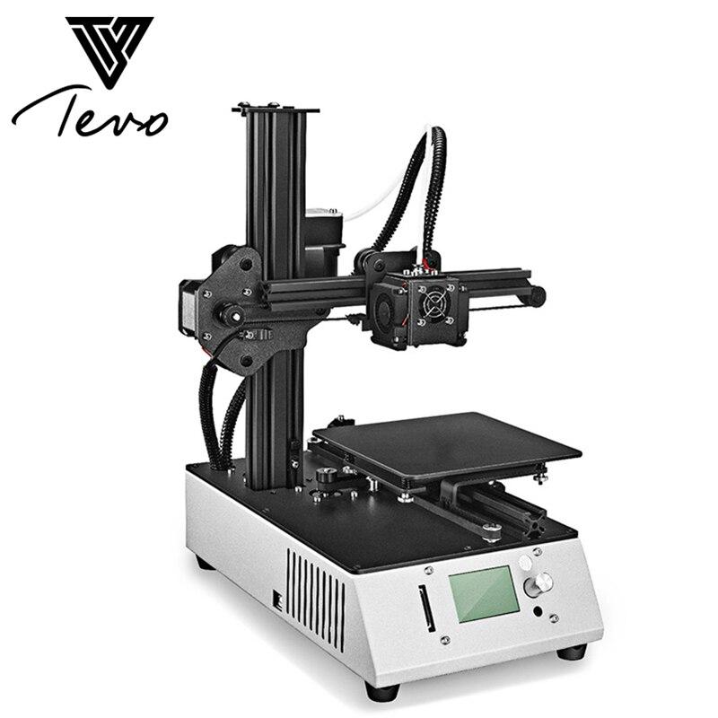 2018 D'origine TEVO Michel-Ange Portable Complète 3D Imprimante Avec Plaque D'aluminium LCD Écran Machine Complète Avec Titan Extruder