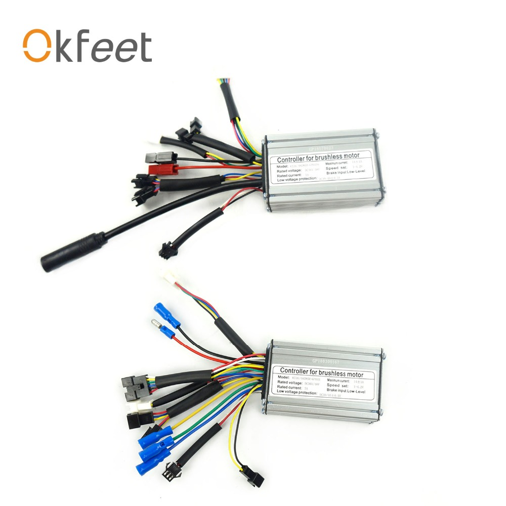 okfeet 36V 48V 14A Electric bicycle standard square wave controller light function KT Series 250W 350W