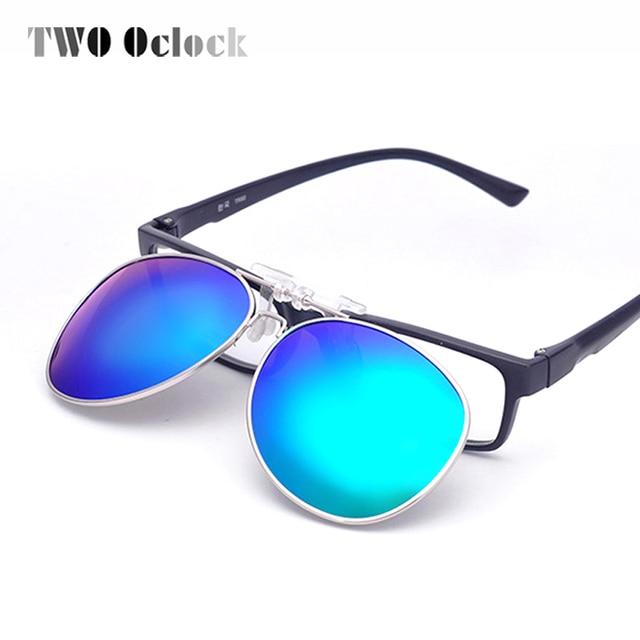 7a0f79a672ed0 TWO Oclock Multi Colors Clip On Sunglasses Men Polarized Women Pilot Fit  Over Sun Glasses Flip Up Polaroid Lens Driving Goggles