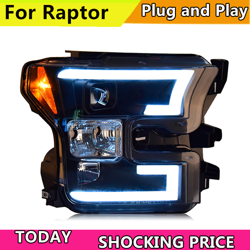 doxa Car Styling For Ford raptor F150 2015 2018 headlights For raptor head lamp led DRL