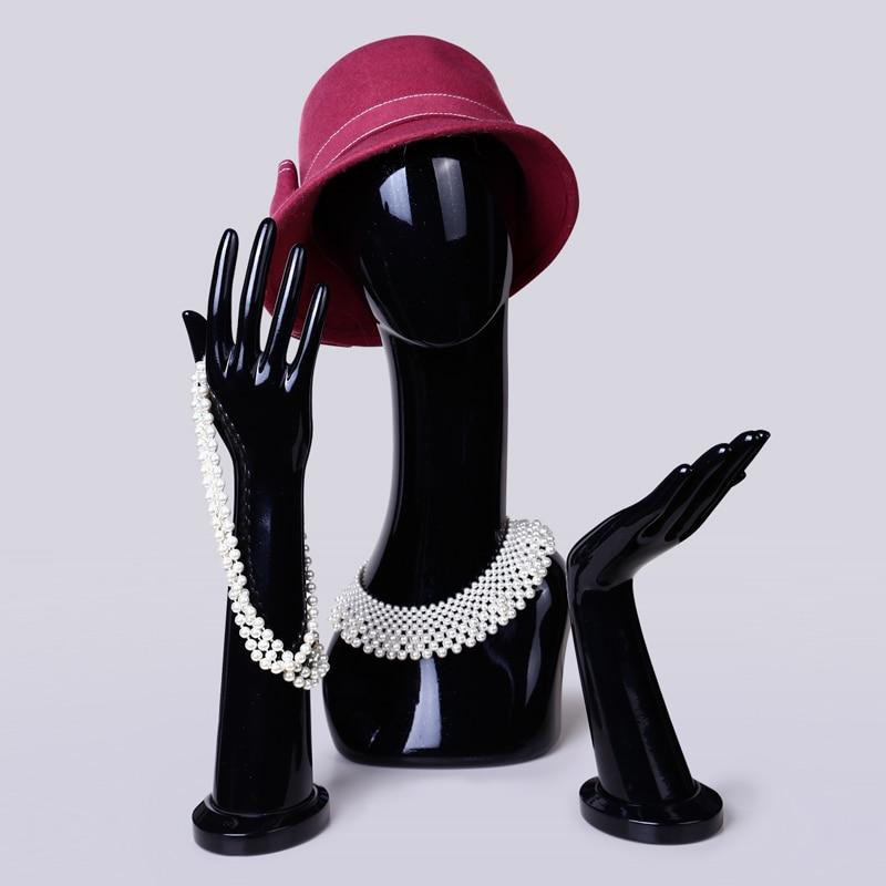 D27 Inci siyah / beyaz Baş kadın mankenler Şapka saç Peruk - Sanat, el sanatları ve dikiş - Fotoğraf 3