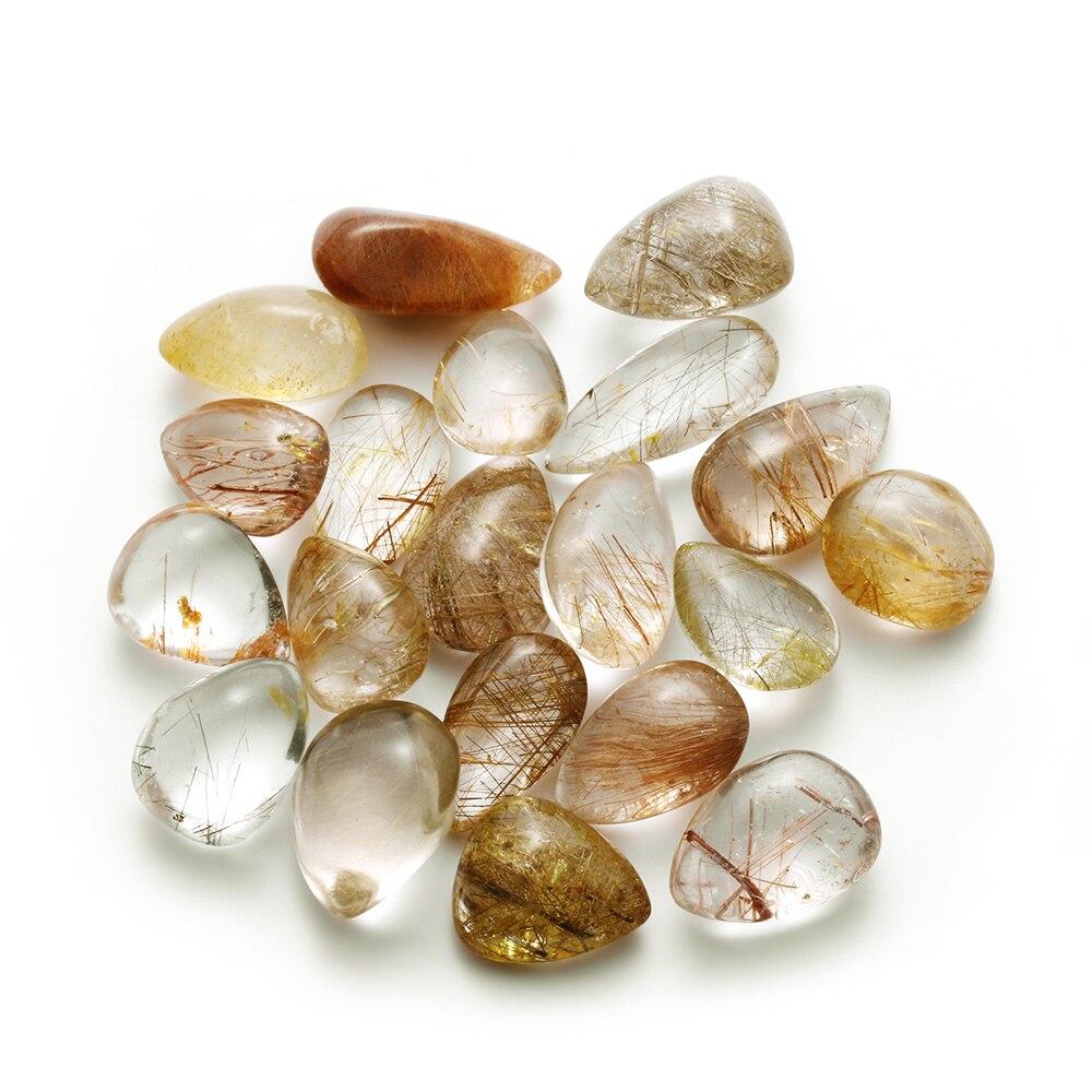 Citrine Rutilated Hair Stone Crystal Polished Quartz Natural Healing Gemstone