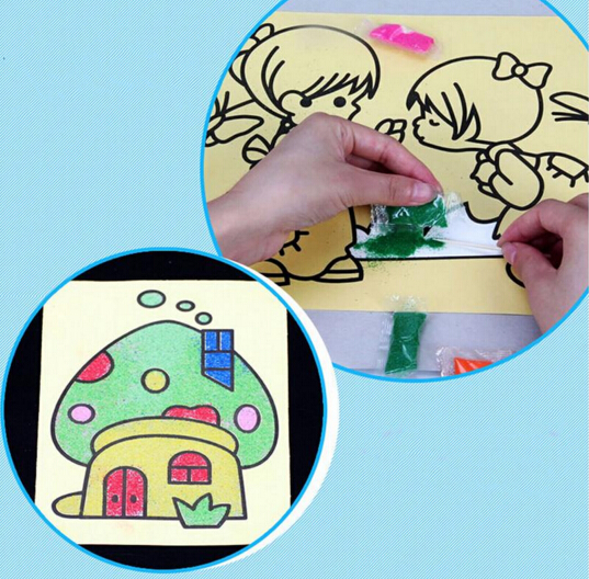 10PCSLOT-12X16CM-Children-Kids-Drawing-Toys-Sand-Painting-Pictures-Kid-DIY-Crafts-Education-Toy-Pattern-Random-2