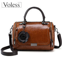 Vintage Women Shoulder Bags With Flower PU Leather Women Bag Large Capacity Luxury Handbags Women Bags Designer Bags For Women(China)