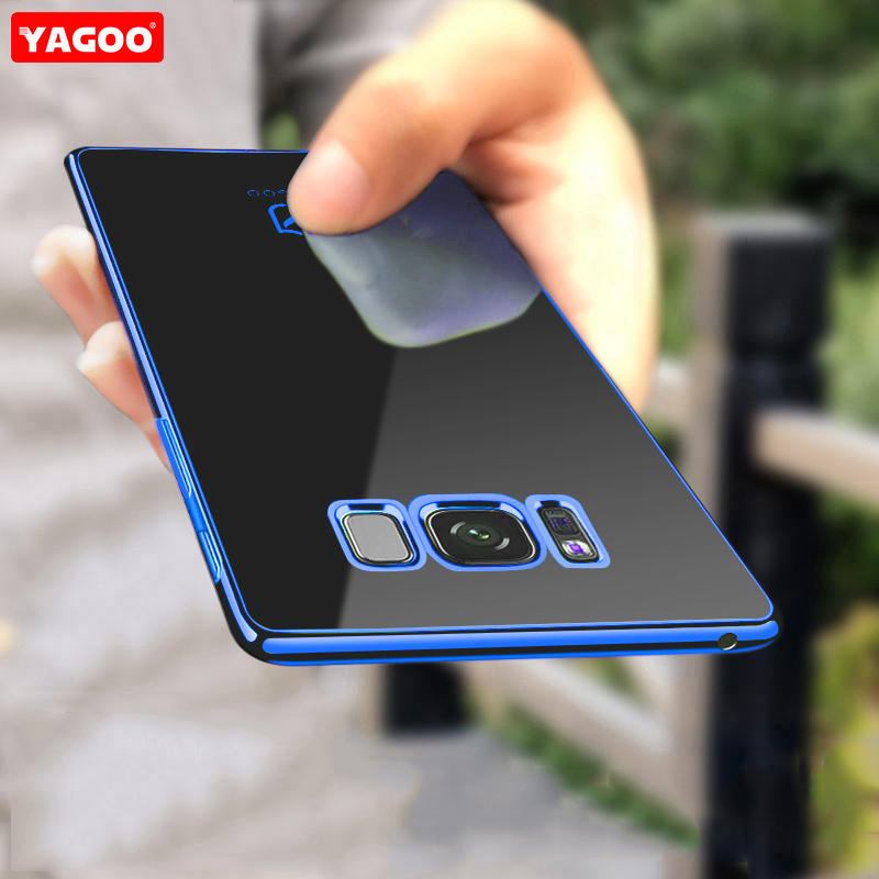 For Samsung S8 case for Samsung Galaxy S8 plus case back cover soft TPU protection coque plain red blue for galaxy s8 plus Yagoo