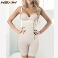 HEXIN Zip Lace Hem Full Body Shaper Fajas Bodysuit Women Waist Shaper Slimming Hot Shapers Tummy Control Butt Lifter Shapewear