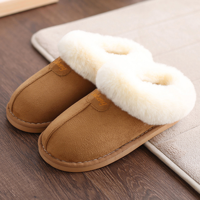 2018 Women Home Slippers Winter Warm Indoor/floor Shoes Bathroom Plush Slippers Fur Woollen Comfortable Non-slip Botas Mujer plush home slippers women winter indoor shoes couple slippers men waterproof home interior non slip warmth month pu leather
