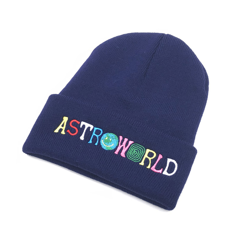 3418c6aa86c 2018 New Travi  Scott Knitted cold Hat ASTROWORLD Beanie embroidery  Astroworld Ski Warm Winter Unisex Travis Scott Skullies Bean-in Skullies    Beanies from ...