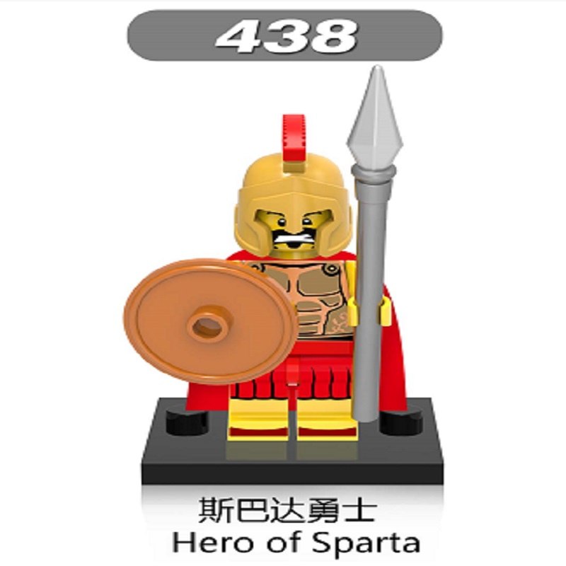 Super Heroes Star Wars Medieval Knights Rome Gladiatus Hero of Sparta Building Blocks Toys For Children Gift XH 438 gif toy