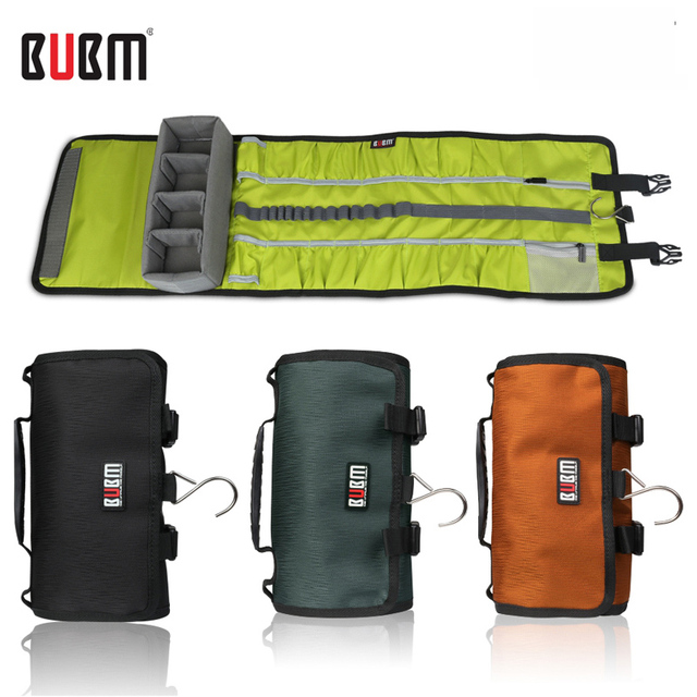 BUBM gopro hero 3 4 5  waterproof camera travel case bag organizer housing storage roll style go pro protection bag for go pro
