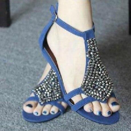 Women Summer Sandals Bling Beading Plaftorm Wedges Shoes Woman Golden Slid Slip-on Roman Flip Flops Size 31-45