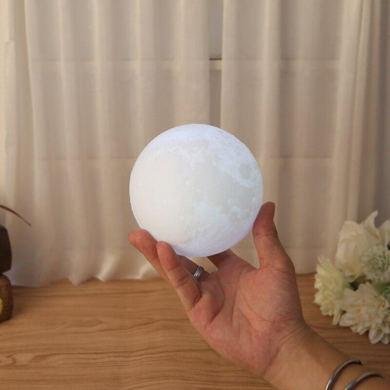 3D волшебный светодиодный луна ночь свет луны лампа настольная зарядка через USB touch Управление Домашний Декор