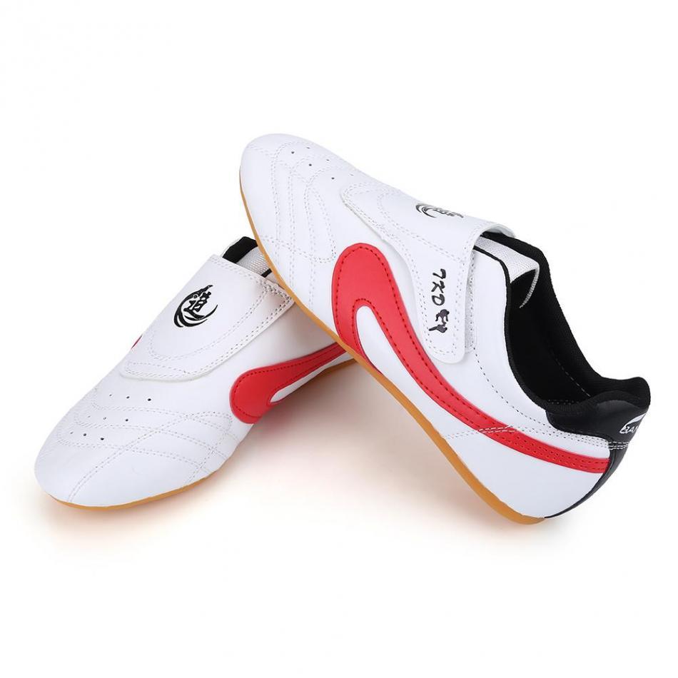 Белые дышащие кроссовки из искусственной кожи в полоску для занятий тхэквондо; Детские кроссовки для занятий боевыми искусствами; Спортивная обувь для взрослых; Профессиональная спортивная обувь для соревнований|taekwondo shoes|kids taekwondo shoeskids martial arts | АлиЭкспресс