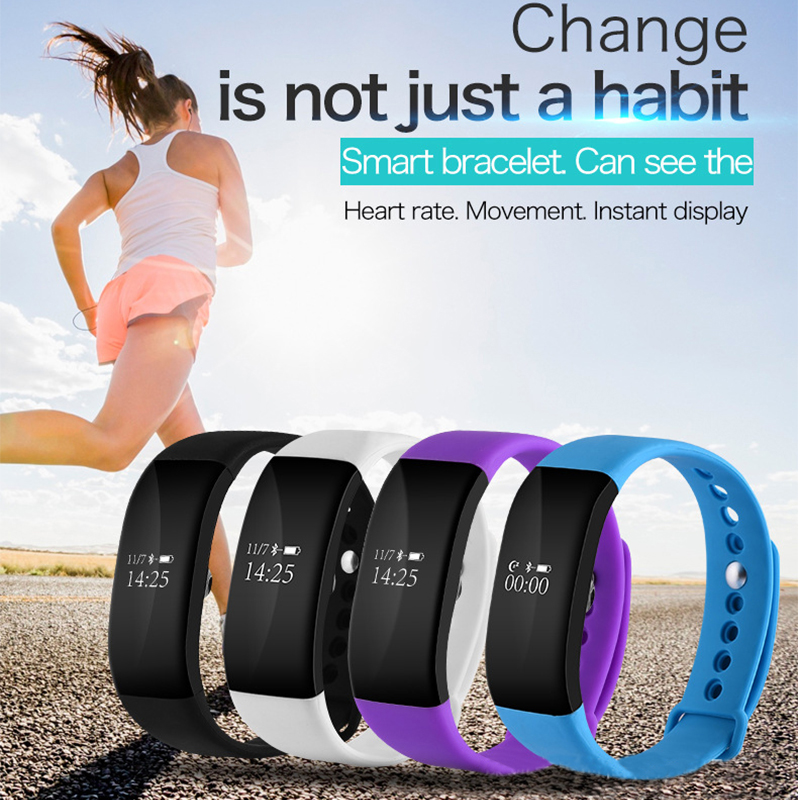 V66 High Quality Sport Pedometer Bracelet Watches For Android IOS Calorie Counter Pedometers Waterproof Heart Rate Monitor waterproof pulse heart rate monitor watch calorie counter sport exercise hmy