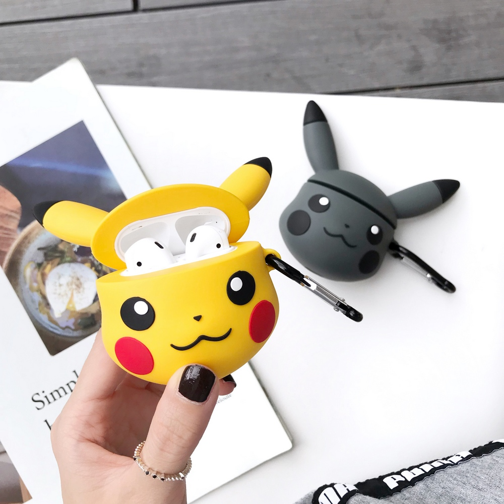 Cute Cartoon Earphone Protective Cover 3d Pokemons Silicone