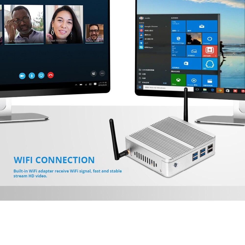XCY Mini PC Windows 10 Intel Core i3 4010Y i5 4200Y i7 4610Y double coeur sans ventilateur Mini ordinateur de bureau HDMI VGA WiFi Nettop HTPC - 3