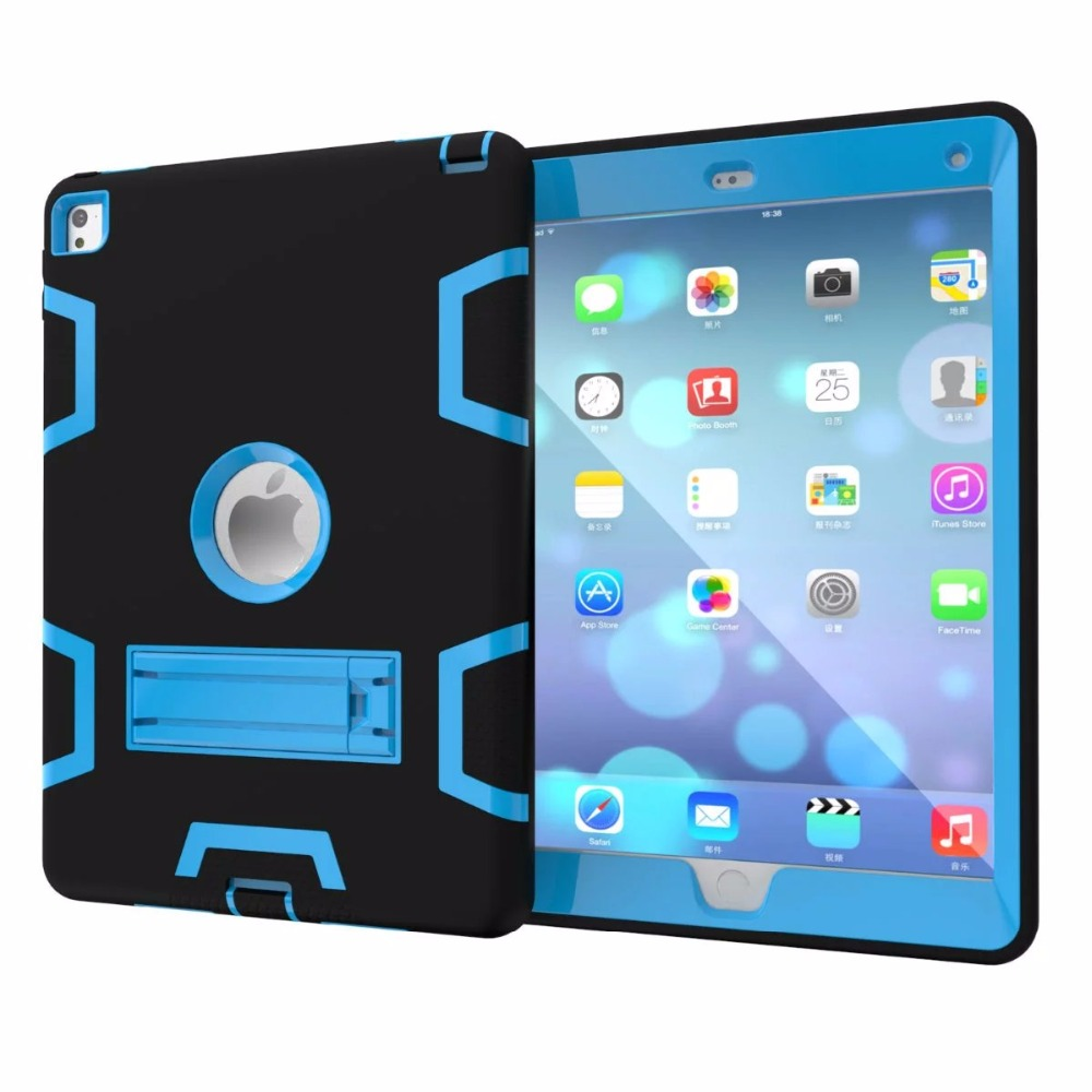 Case For  iPad Air 1 Cover Armor Shockproof Heavy Duty Silicone Hard Case Full Body Protector Screen Protector Film+Stylus Pen armor heavy duty shockproof hard case for apple ipad air 2 full protection flip leather cover for ipad 6with auto wake sleep