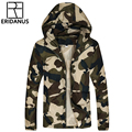 2016 Spring Autumn Man Casual Hooded Jacket Male Fashion Camouflage Design High Quality Loose Zipper Jackets M389