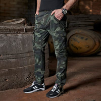 Tactical Pants Army Combat Cargo Pants Plus Size Cotton Breathable Multi Pocket Military Army Camouflage Cargo