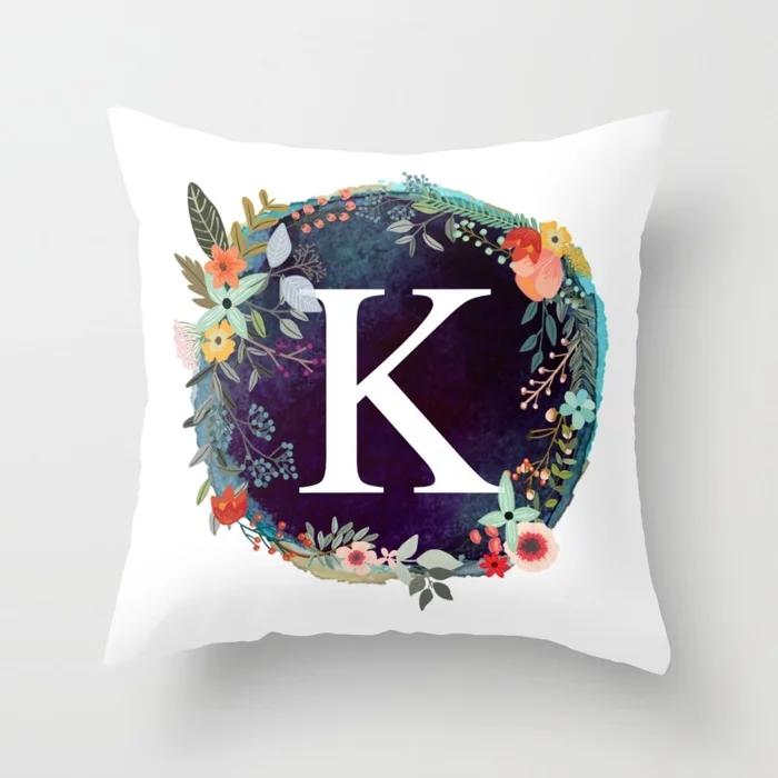 personalized-monogram-initial-letter-k-floral-wreath-artwork-pillows.webp