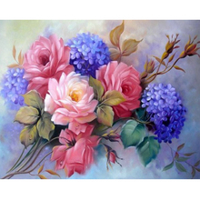 Still life flower diamond Embroidery diy painting mosaic diamant 3d cross stitch pictures H462