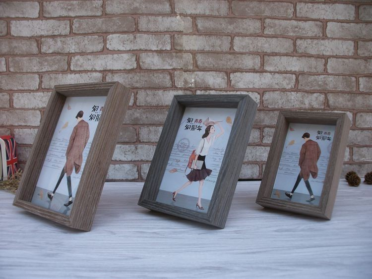 vintage family couple wedding pictures frame desktop solid wood photo frame home decoration old furniture souvenir
