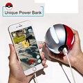 Pokeball Cargador Banco de la Energía 10000 mah Regalo Personalizado Christom Juego Pokemon Ir Más El Powerbank Móvil Energía de Poke bola de Peluche de Juguete banco