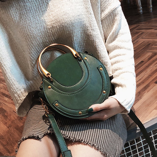 Round Top Handle Women Handbag