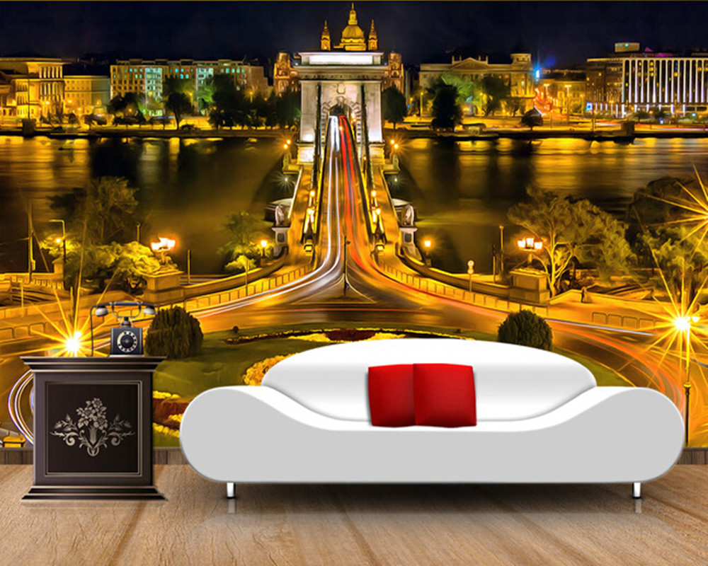 Custom wallpaper photo, Budapest, Hungary, the city of the living room for the living room bedroom TV background wall paper landscape photo frame of the living room of the paris tv tower living tv background wallpaper wallpaper wall canvas